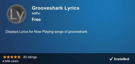 Lyrics en Grooveshark