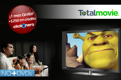 total movie deal Recibe $250 pesos gratis en crédito de ClickOnero [Promo]