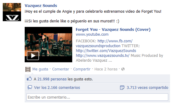 Vazquez Sounds forget you Vazquez Sounds ya tiene nuevo cover, Forget You   Cee lo green [Video]