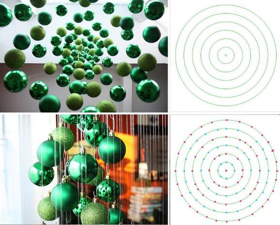 Como hacer un rbol de navidad moderno f cil y barato for Colgantes para arbol de navidad