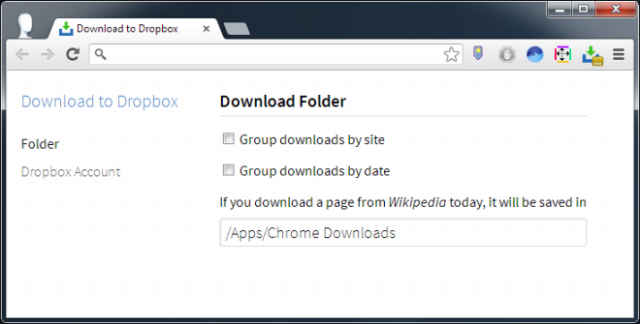 Download to Dropbox folder 640x324 Como descargar archivos directamente a Dropbox con un clic